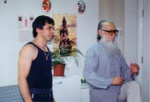 HongKong 1995 Master Tassos beim Unterricht 1