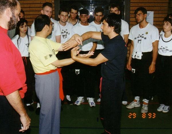 Grandmaster Leung Ting & Sifu Tassos